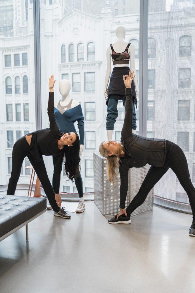 Ashley and Ann do Yoga